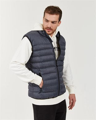 SKECHERS OUTERWEAR M BASIC LIGHTWEGHT VEST-GREY