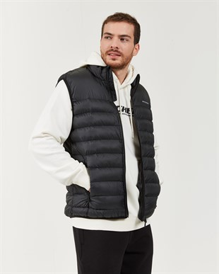 SKECHERS OUTERWEAR M BASIC LIGHTWEGHT VEST-BLACK