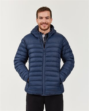 SKECHERS OUTERWEAR M PADDED LIGHTWEIGHT JACKET-NAVY