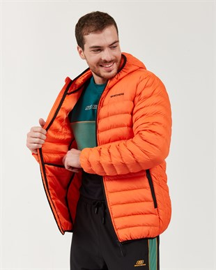 SKECHERS OUTERWEAR M PADDED LIGHTWEIGHT JACKET-ORANGE
