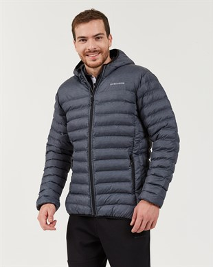 SKECHERS OUTERWEAR M PADDED LIGHTWEIGHT JACKET-GREY